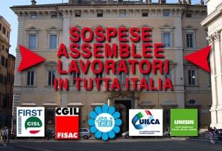 IN TUTTA ITALIA STOP ALLE ASSEMBLEE PER IL NUOVO CONTRATTO