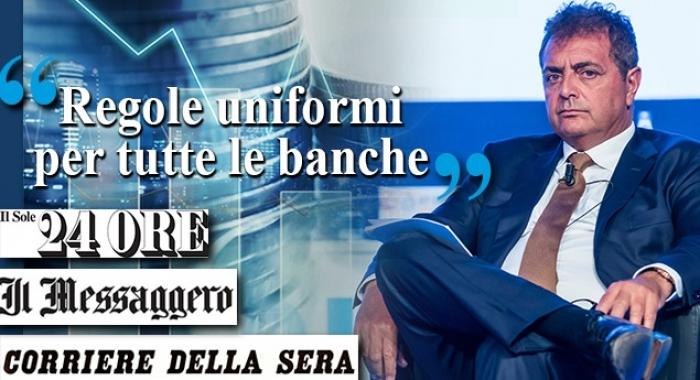 «REGOLE UNIFORMI PER TUTTE LE BANCHE»