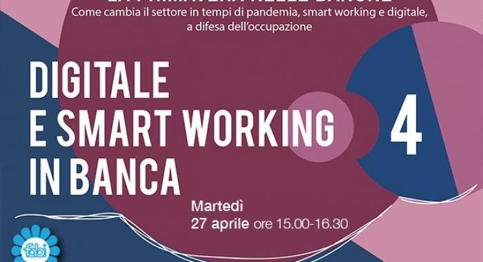 DIGITALE E SMART WORKING, DIBATTITO APERTO TRA FABI E BANCHE