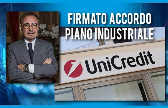 FIRMATO L'ACCORDO SUL PIANO INDUSTRIALE DI UNICREDIT